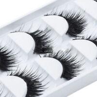 Sexy Natural Thick False Eyelashes Long Handmade Eye Lashes Extension 5 Pairs
