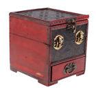 Retro Wooden Jewelry Storage Box Treasure Chest Organizer Home Decor 14x12cm