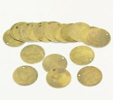 200 Antique Bronze Tone Round Circle Metal Stamping Blank and Crafting Tags 20mm