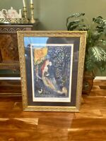 """MARC CHAGALL """" THE WEDDING"""" Limited Edition Photomechanical Graphic Lithograph"""
