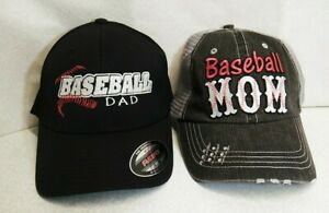 Baseball Dad And Baseball Mom Caps, New Without Tags