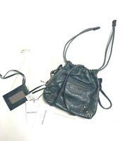 Balenciaga Authentic Move On Mini Bag Anthracite Gray Leather Small Motocross
