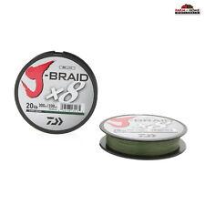 (2) Daiwa J-Braid Dark Green Braided Fishing Line 330 Yds 20lb ~ NEW
