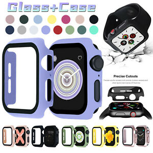 For Apple Watch Series 6/SE/5/4 40/44mm Bumper PC Case Built-in Screen Protector