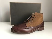 H by Hudson Hemming Mens Ankle Calf Boots in Brown UK 10