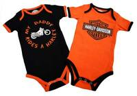 Harley-Davidson Baby Boys' Daddy Rides A Harley Creeper 2-Pack 1153042