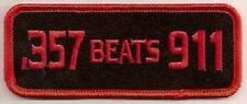 357 BEATS 911 EMBROIDERED IRON ON  BIKER  PATCH