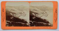Villefranche Costa Azzurra Foto Stereo di Carta Albume D'Uovo Vintage Ca 1870
