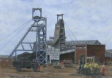 Manvers Main Colliery  - 1876 - 1986 - Ltd Ed Print - Pit Pics - Coal Mining