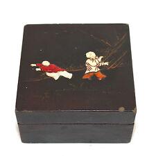 Set of antique Chinese nesting black Laquer Coromandel boxes 1900-40