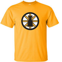 "GOLD Boston Bruins Stanley Cup David Pastrnak Patrice Bergeron ""LOGO"" T-Shirt"