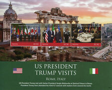 Nevis 2018 MNH Donald Trump Visit Italy Mattarella 3v M/S US Presidents Stamps