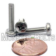 M3.5 x 16mm  Stainless Steel Phillips Pan Head Machine Screws, Cross Recessed A2