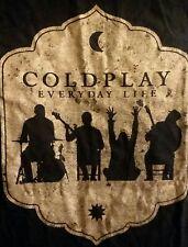Coldplay Everyday Life Tour T Shirt Mens XL Pop Rock Los Angeles Concert Dates