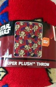 "Star Wars Lightside CHEWBACCA 40"" x 50"" Super Plush Fleece Throw Blanket ~ NEW"