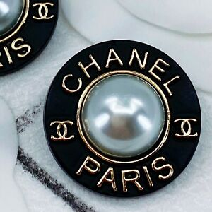 Authentic CHANEL Button ft. Classic Logo, Stamped 24mm Designer Button Jewelry