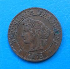 1 centime Cérès 1872 K BORDEAUX , millésime RARE