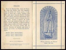 OUR LADY OF FATIMA w/ SONG - SUPPLICATION O. LADY OF PEACE Old HOLY CARD BOOKLET