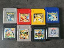 Nintendo Gameboy Spielesammlung Classic Pokemon Silber,Blau,Gelb & Rot/Hugo,Game