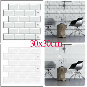3D Self-Adhesive Kitchen Wall Tiles Stickers Bathroom Mosaic Stickers Peel Stick