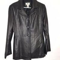 BP Women's Genuine Lamb Skin Leather Jacket Blazer Size Medium