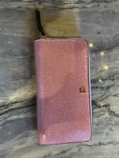 NWOT Kate Spade Rose Pink Glitter Wallet Lola Continental Large Zip Around
