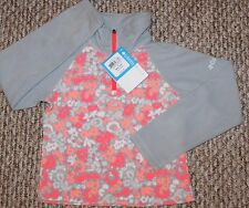 New! Girls Columbia Jacket (Pullover; Fleece; Pink/Gray) - Size XXSmall 4-5