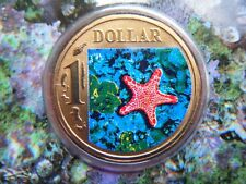 2007 Australia Ocean Series - Biscuit Star, Coloured UNC $1 Coin in Card, RAM