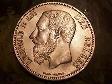 *** 5 Francs 1875 ARGENT BELGIQUE LEOPOLD II ***