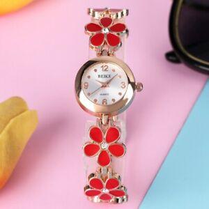 Cute Fashion Female Model Steel Bracelet Watches Ladies Analog Quartz Watch