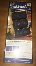 "Wallies 2 Sheet Peel and Stick Chalkboard Wall Decal Set of 2-9 x12 "" Locker"