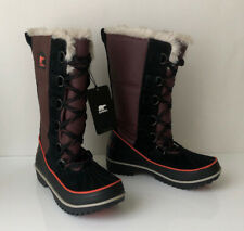 NEW! SOREL Tivoli High II Women's 10.5 Madder Brown Lace Boot Waterproof Leather