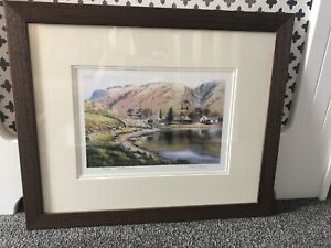 Paul Harley Limited Edition Lake District Watercolour Painting Mounted & Framed