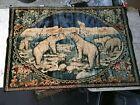 "Vintage Big Polar Bear Hang on the Wall Tapestry LG 54.5"" x 39"" Cabin Lodge Art"