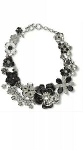 White House Black Market Faux Pearl Rose Statement Necklace brand new in bubble