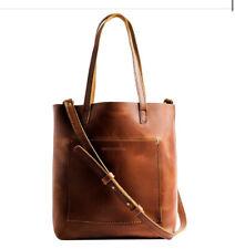 "Portland Leather Goods Handmade Tote ~ Honey ~ 14""x13""x5"" ~ Handle Drop 10.5"""
