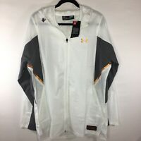 NWT Under Armour Mens XL NBA Combine Full Zip Hooded Jacket White 1318787  $100