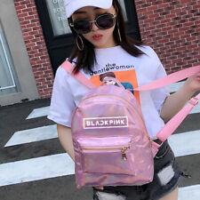 Kpop BlackPink laser Backpack Fashion Schoolbag PU Bag