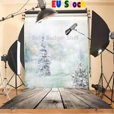 5x7ft Christmas Tree Snow White Ice Theme Photography Vinyl Background Backdrop
