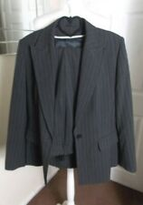 Gianfranco Corneli Charcoal Grey Striped Ladies Suit  SIZE 16 DESIGNER