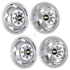 "17"" CHEVY CHEVROLET 3500 SILVERADO CHROME STAINLESS WHEEL SIMULATOR COVERS ©"
