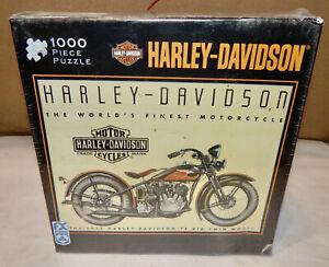 "Harley Davidson HD 1933 74 Big Twin Model 1000 Piece Jigsaw Puzzle 27""x 20"" 214T"