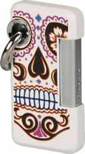 ST DUPONT HOOKED JET CIGAR LIGHTER W KEY RING LACQUER WHITE 032026 32026 MEXIC-O