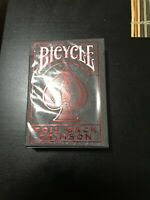 Foil Back Crimson v2 Bicycle Playing Cards Poker Size Deck USPCC Custom Limited