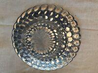 "Vintage Blue Bubble Depression Glass Dinner Plate 9.25"""