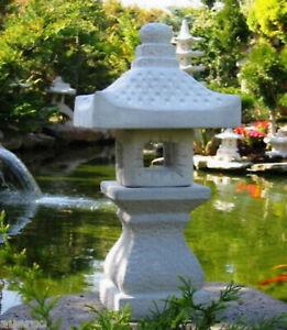 Japanische Steinlaterne--Yukimi K--Koiteich Figur Gartendekoration