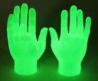 Glow In The Dark Pair Of Tiny Hand Finger Hands Puppet  Funny Joke Gift