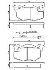 Bendix Front Brake Pad Set for Peugeot 205 1983-1998