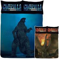 Godzilla Set Housse de Couette Double vs Ghidorah Réversible Enfants Literie