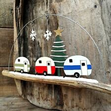 Christmas Caravans Hanging Decoration by Shoeless Joe